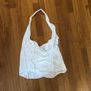 White halter shirt